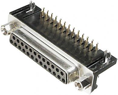 Conector D-SUB mamă, 9 pini, în unghi 90°, standard european, terminale lipire, A-DF 37 A/KG-T1 Assmann