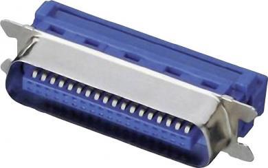 Conector tată Centronics pentru cablu panglică AWG 26/28 cu tehnică IDC, drept, 36 pini
