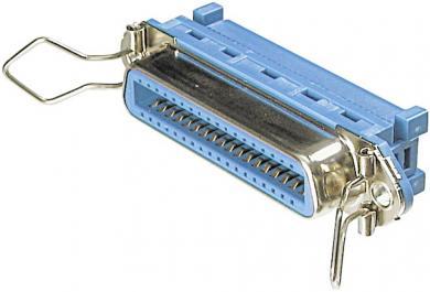 Conector mamă Centronics pentru cablu panglică AWG 26/28 cu tehnică IDC, drept, 36 pini