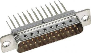 Conector D-SUB Harting tată, cu terminal de lipire, 15 pini