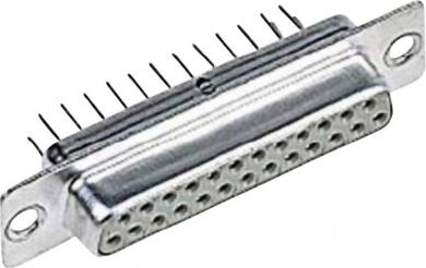 Conector D-SUB Harting mamă, cu terminal de lipire, 25 pini