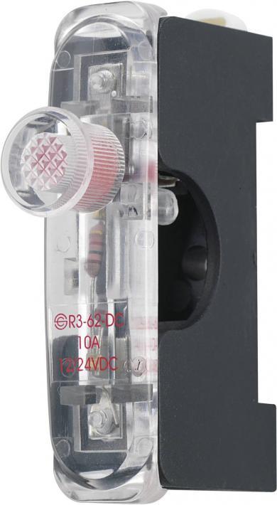 Suport siguranţă 6,3 x 32 mm, cu led, 12/24 V/DC, inclusiv cablu roşu 200 mm