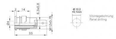 Soclu de siguranţă Multi-Contact SLB 4-F6,3, 32 A, 4 mm, conexiune prin conector plat 6,3 mm, verde-galben