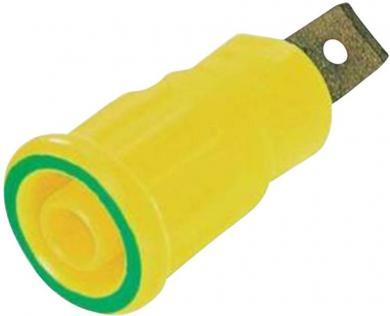 Soclu de siguranţă press-in Multi-Contact SEB 4-F6,3, 32 A, 4 mm, conexiune prin conector plat 6,3 mm, verde-galben