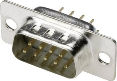 Conector D-SUB tată, 9 pini, orizontal, A-DS 09 PP Assmann