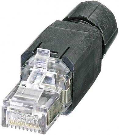 Conector RJ45 IP20 – CAT5e, 8 pini, VS-08-RJ45-5-Q/IP20 Phoenix Contact, negru
