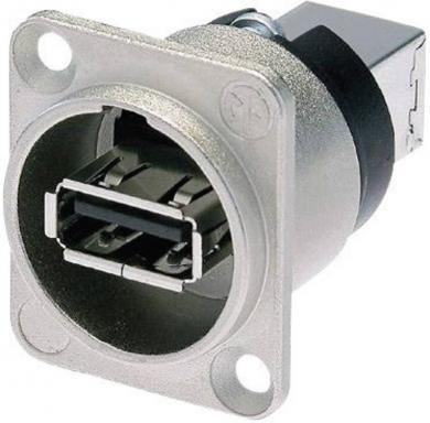 Adaptor USB 2.0 reversibil, soclu, NAUSB-W Neutrik, nichel