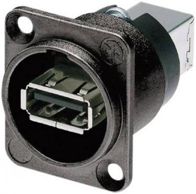 Adaptor USB 2.0 reversibil, soclu, NAUSB-W-B Neutrik, negru