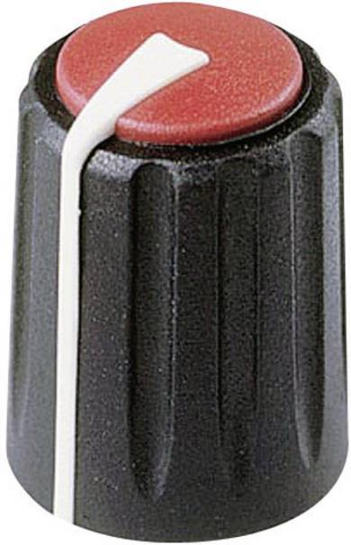 Buton rotativ Flexifit, Ø ax 7,5 mm, negru, tip F 311 S 096