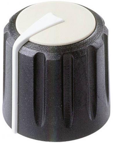 Buton rotativ Flexifit, Ø ax 7,5 mm, negru, tip F 317 S 092