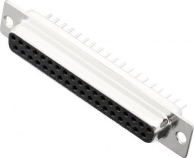 Conector D-SUB mamă, drept, cu terminal de lipire EnciTech, 37 pini