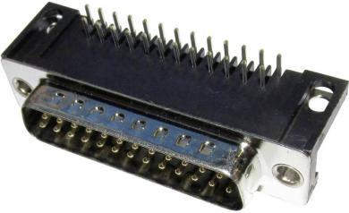 Conector D-SUB tată, în unghi, cu terminal de lipire EnciTech, 25 pini