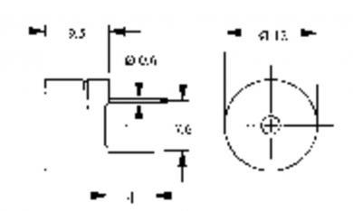 Traductor de sunet piezoelectric AL-60SP05, cu generator, 85 dB, 2300 Hz, consum curent < 30 mA, 4 - 7 V/DC