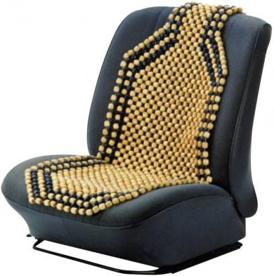 Husă scaun cu bile, lemn, maro, HP Autozubehör