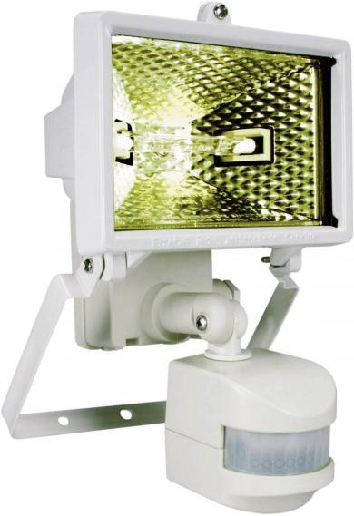 Proiector cu halogen și senzor de mișcare, IP 44, 120 W, alb