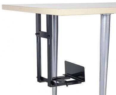 Suport PC pentru montare sub birou, negru