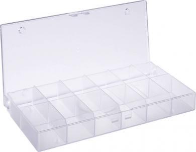 Cutie depozitare cu 12 compartimente, transparentă