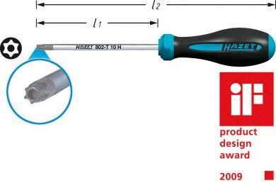Şurubelniţă TORX TR 30, lungime lamă 115 mm, Hazet 802-T 30 H