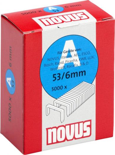Capse fine tip 53/6, (L x l) 6 x 11,3 mm, 5000 buc., Novus