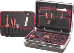 Valiză cu scule electrician Toolcraft, 21 piese