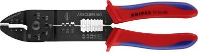 Cleşte de sertizat pentru conectori izolaţi, 0.75 la 6 mm², Knipex 97 22 240