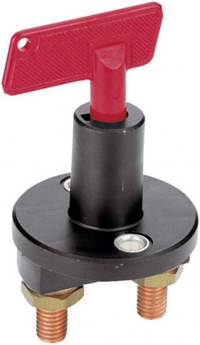 Întrerupător de siguranţă auto 50 A, Ø montare 24 mm, grad de protecţie IP X2 (DIN 40050)