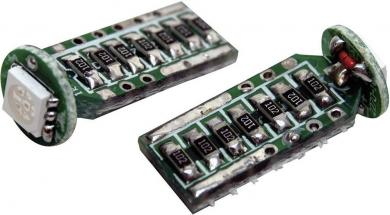 Bec auto SMD-LED T10, soclu W2.1x9.5d, 3 W, albastru, Eufab