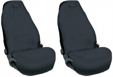 Set huse universale scaun auto, fleece, negru, 2 buc.