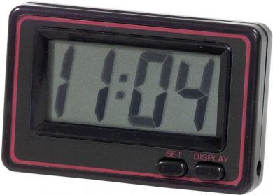 Cuarţ ceas digital, 68 x 44 x 13 mm, negru/roşu