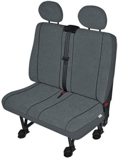 Husă scaun dublu autovehicule de transport, poliester, antracit