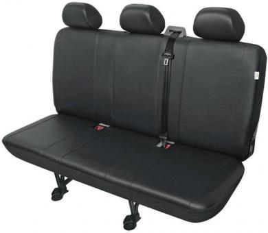 Husă banchetă 3 scaune autovehicule de transport, piele sintetică, negru