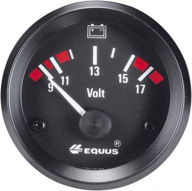 Voltmetru încastrabil EQUUS®, culori iluminare galben/roşu/verde