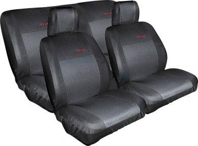 Set huse universale scaun auto, poliester, negru, 8 piese, Eufab