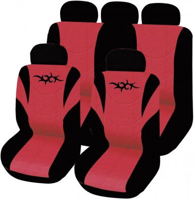Set huse universale scaun auto, roşu, 11 piese, Eufab Tribal