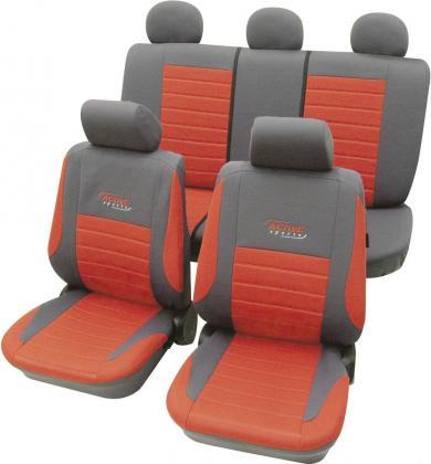 Set huse universale scaun auto, roşu, 11 piese, Cartrend Active