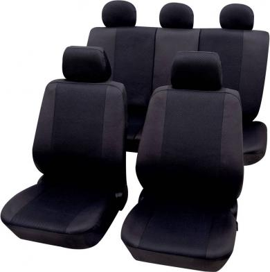 Set huse universale scaun auto, poliester, negru, 11 piese, Petex Sydney
