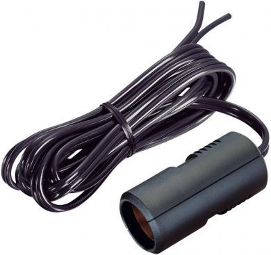 Cablu prelungitor ProCar, mufă brichetă auto cu cablu plat, Ø interior 21 mm, lungime 1,8 m