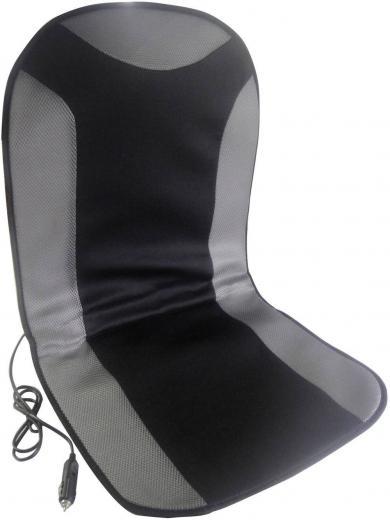 Husă scaun cu încălzire 12 V, 1 treaptă de încălzire, negru, gri, Cartrend