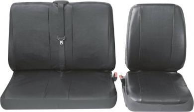 Set huse scaun simplu/scaun dublu, piele sintetică, negru, Petex Profi 4