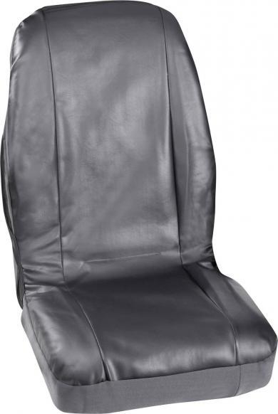 Set 2 huse scaune simple, piele sintetică, negru, Petex Profi 4