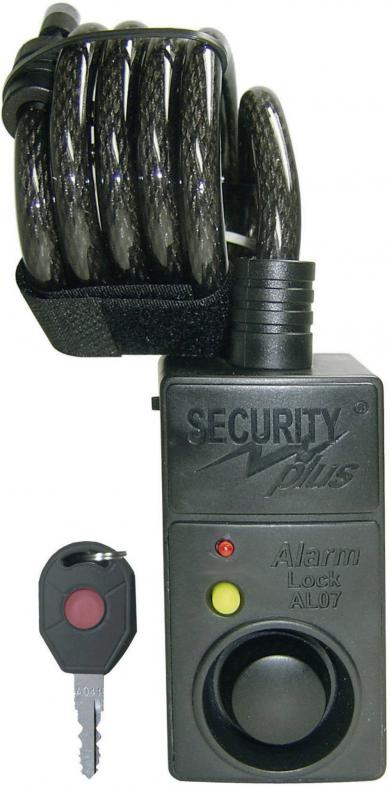 Lacăt cablu cu alarmă şi senzor de mişcare AL07