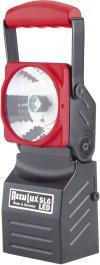 Reflector de lucru/urgenţe AccuLux SL6 LED, autonomie 5 ore, negru-roşu