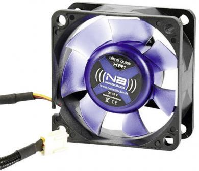 Ventilator PC, 3 pini, Ø 60 mm, 11 dB/A, Noiseblocker BlackSilentFan XR1