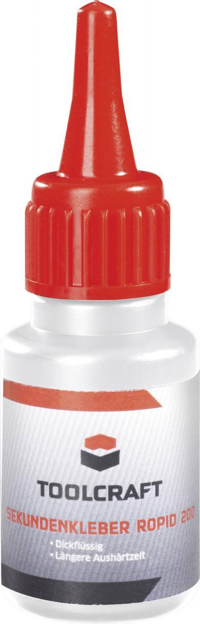 Adeziv instant (super glue) Toolcraft ROPID 200, 20 g