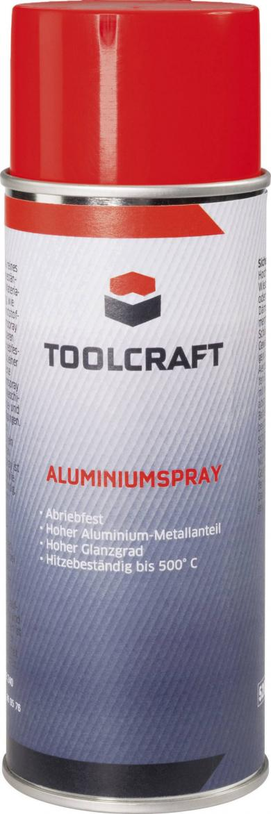 Spray aluminiu 400 ml, Toolcraft WALS.D400