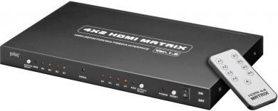 Splitter HDMI Matrix 4 intrări/2 ieşiri AVS 45 Goobay