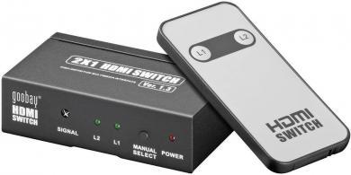 Switch HDMI 2 intrări/1 ieşire AVS 43-2 Goobay, compatibil 3D