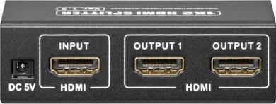 Splitter HDMI 1 intrare/2 ieşiri AVS 44-2 3D Goobay
