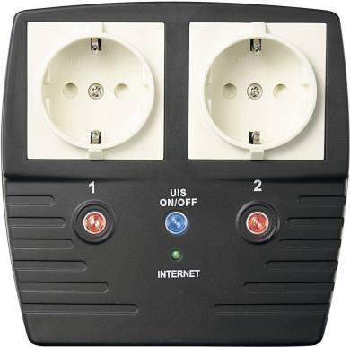Priză dublă cu port LAN şi USB