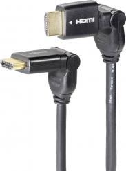 Cablu HDMI cu Ethernet 2x în...
